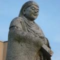 会津美里町公民館前の天海大僧正像